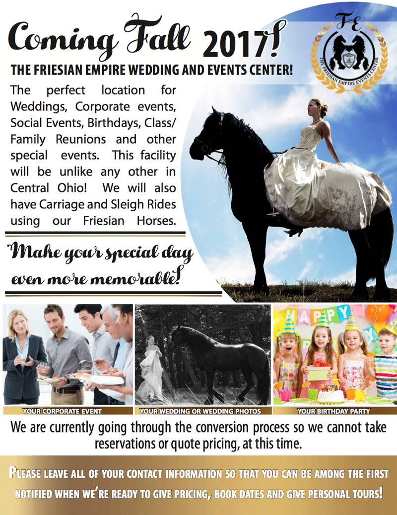 The Friesian Empire Wedding And Events Center